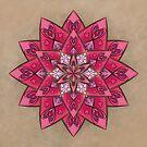 Power Of Love Mandala by Lucie Rovná