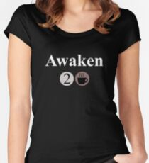 Awaken Large - Coffee Women's Fitted Scoop T-Shirt