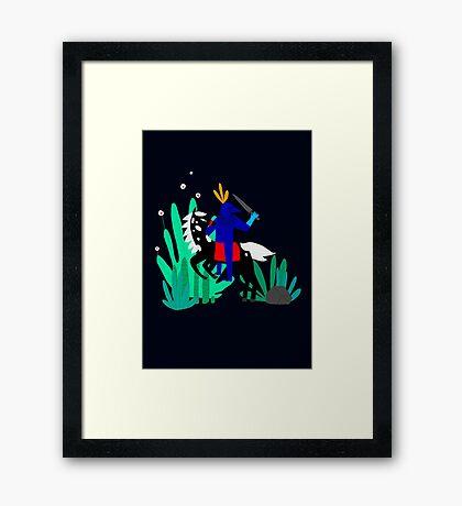 Cavalier Bleu Framed Print