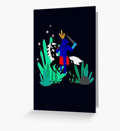 Cavalier Bleu Greeting Card