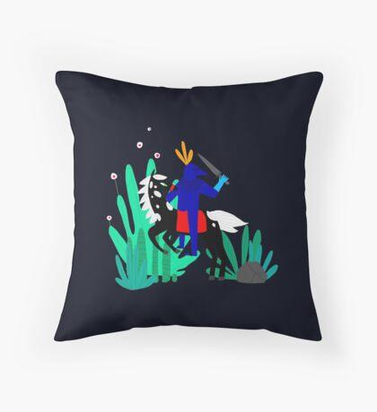 Cavalier Bleu Throw Pillow