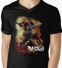 Tomb Raider Mens V-Neck T-Shirt