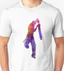 Cricket player batsman silhouette 09 Unisex T-Shirt