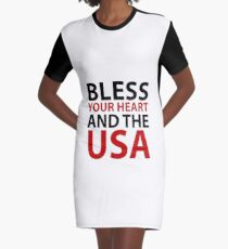 Bless Your Heart and the USA Graphic T-Shirt Dress