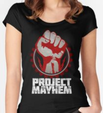 Fight Club Project Mayhem Design Women's Fitted Scoop T-Shirt