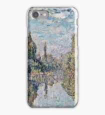 Claude Monet - La Seine a Vetheuil (1878)  iPhone Case/Skin