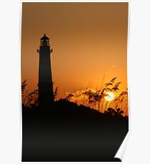 Tybee Island Lighthouse at Sunset Poster