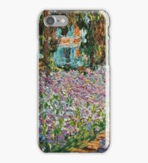 Claude Monet - Irises In Monet S Garden  iPhone Case/Skin