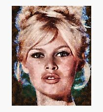 Brigitte Bardot Hollywood Icon by Mary Bassett Photographic Print