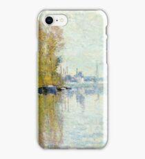 Claude Monet - Autumn On The Seine, Argenteuil 1873  iPhone Case/Skin