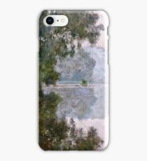Claude Monet - Morning On The Seine, Near Giverny  iPhone Case/Skin