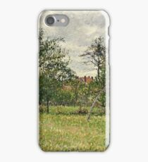 Camille Pissarro - Autumn, Morning, Cloudy, Eragny (1900)  iPhone Case/Skin