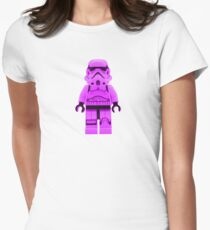 Lego Storm Trooper in Purple Women's Fitted T-Shirt