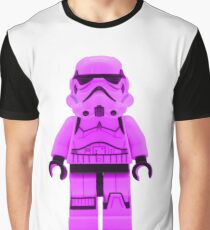 Lego Storm Trooper in Purple Graphic T-Shirt