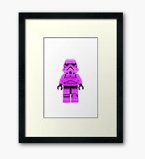 Lego Storm Trooper in Purple Framed Print