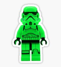 Luminous Green Lego Storm Trooper Sticker