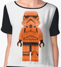 Orange Lego Storm Trooper Women's Chiffon Top