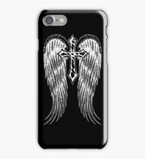 Cross with wings iPhone Case/Skin