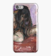 Edvard Munch - Weeping Nude iPhone Case/Skin