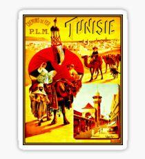 TUNISIA; Vintage Travel Advertising Print Sticker