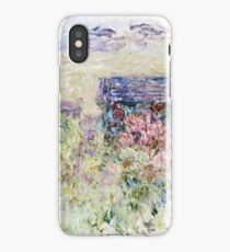 Claude Monet - The House Through The Roses  iPhone Case/Skin