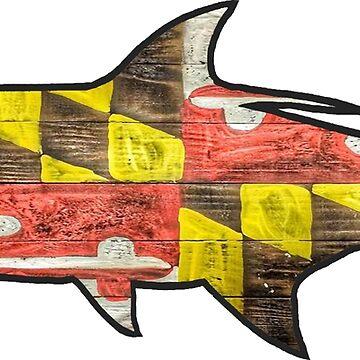 Tarpon Bandera de Maryland de Statepallets