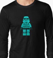 Turquoise Blue Lego Storm Trooper Long Sleeve T-Shirt