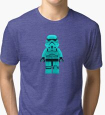Turquoise Blue Lego Storm Trooper Tri-blend T-Shirt