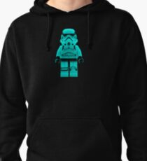 Turquoise Blue Lego Storm Trooper Pullover Hoodie