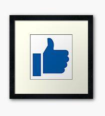 I Like Facebook Framed Print