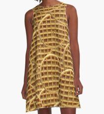 Vestido acampanado Waffle Pattern
