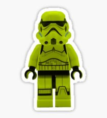 Lime Green /Yellow Lego Storm Trooper Sticker