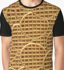 Waffle Pattern Graphic T-Shirt