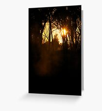 Foggy Goulburn Dawn Greeting Card