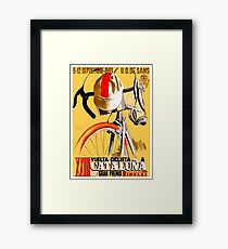 CATALUNA GRAND PRIX; Vintage Bicycle Advertising Framed Print