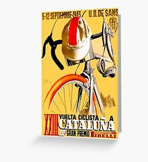 CATALUNA GRAND PRIX; Vintage Bicycle Advertising Greeting Card