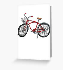 Vintage Pedal Power Greeting Card