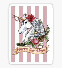 Christmas Unicorn Sticker