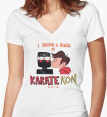 Marco's Karate Kon -Star vs the forces of evil- Women's Fitted V-Neck T-Shirt