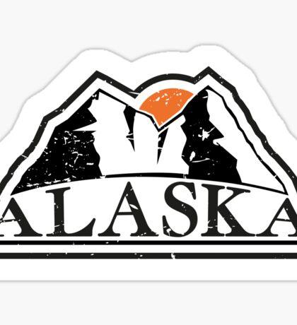Alaska mountains Sticker