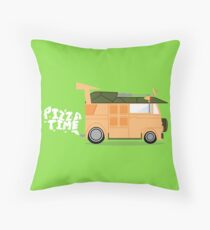 Pizza Time - Teenage Mutant Ninja Turtles Van Throw Pillow