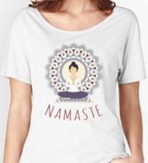 Lotus Pose (Padmasana) Women's Relaxed Fit T-Shirt