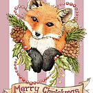 Christmas Fox by LCWaterworth