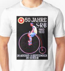 BICYCLE RACES; Jahre Vintage Advertising Print Unisex T-Shirt