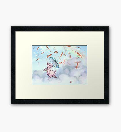 Bacon Shower Framed Print