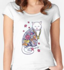 Mob Cat  Women's Fitted Scoop T-Shirt