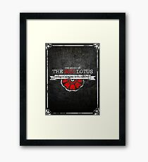 the order of the red lotus Framed Print