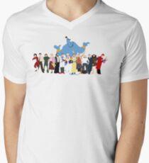 NO BACKGROUND Even More Minimalist Robin Williams Character Tribute Men's V-Neck T-Shirt