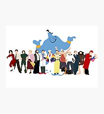 NO BACKGROUND Even More Minimalist Robin Williams Character Tribute Photographic Print