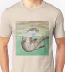 Playful River Otter Unisex T-Shirt